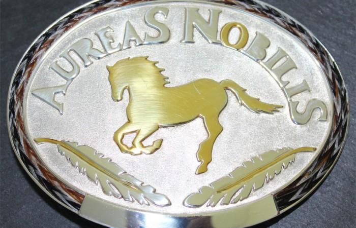 Western Belt Buckle Aureas-Nobilis mit Pferdehaar